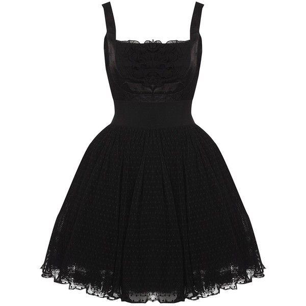MANOUSH Puffball Dress ($595) ❤ liked on Polyvore featuring dresses, vestidos, short dresses, black, women, black dress, cocktail party dress, black cocktail dresses and black polka dot dress