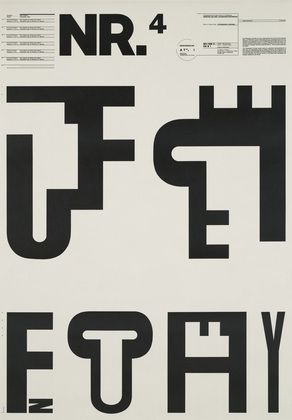Wolfgang Weingart. Typographic Process, Nr 4. Typographic Signs. 1971-1972
