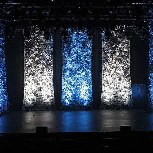 Mesh Columns And Led Stage Lighting Decor Stage