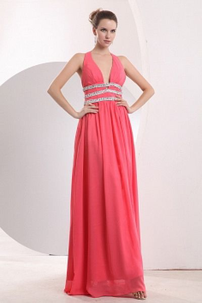 Halter A-Line Chiffon Cocktail Dress wr1538 - http://www.weddingrobe ...