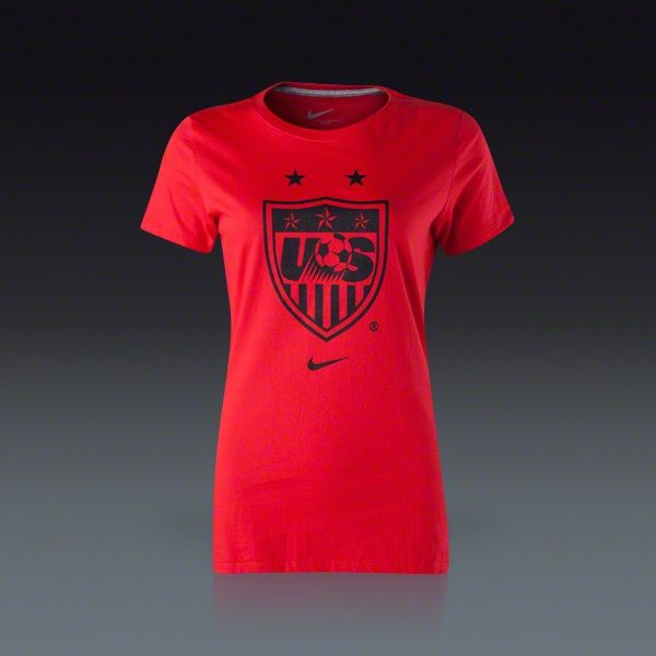 Buy Nike USA Women s T-Shirt USWNT Logo on SOCCER.COM. Best Price  Guaranteed. Shop for all your soccer equipment and apparel needs. de5c47349