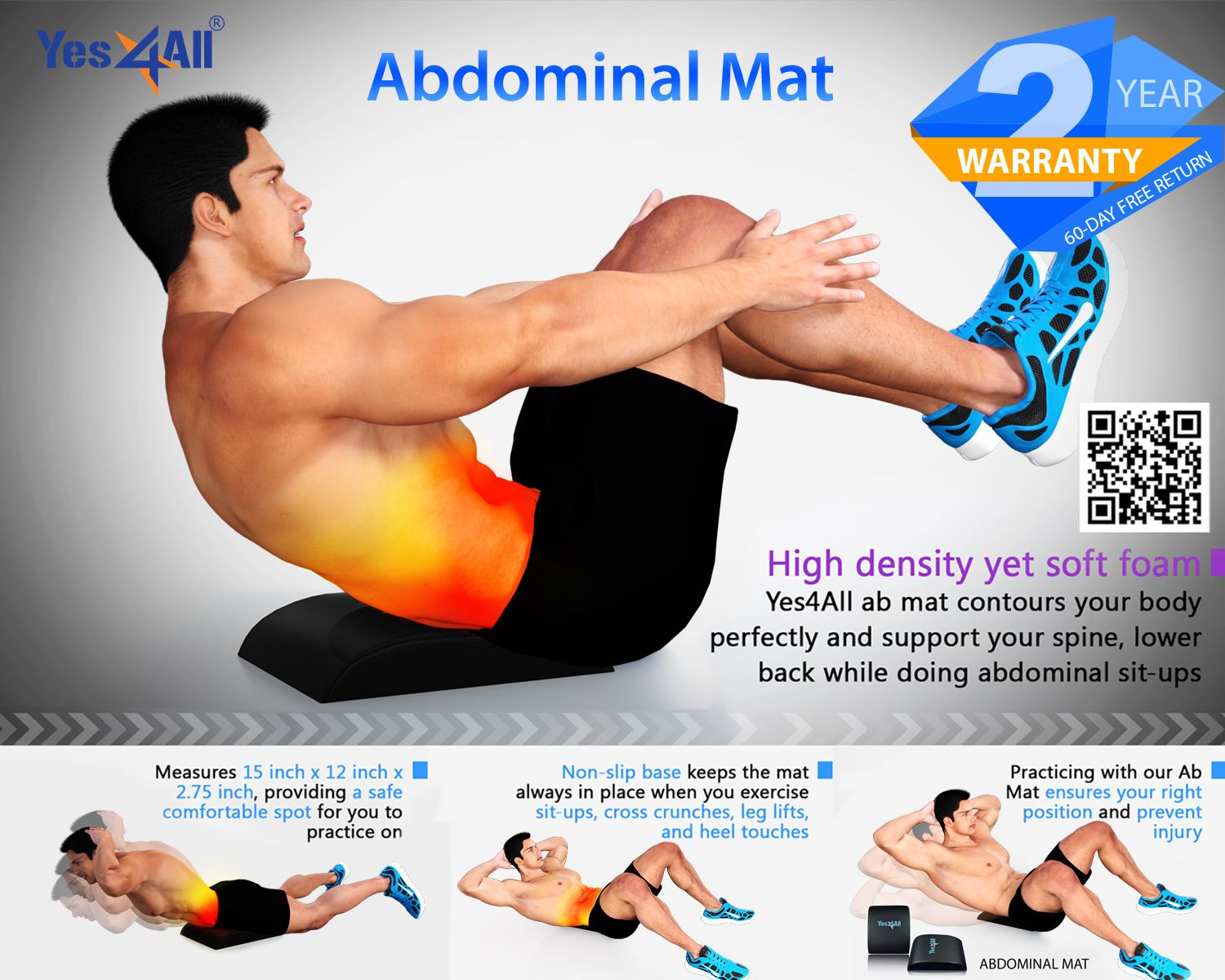 Pin By Yes4all On Yes4all Ab Mat Abdominal Muscles Abdominal Exercises Abdominal