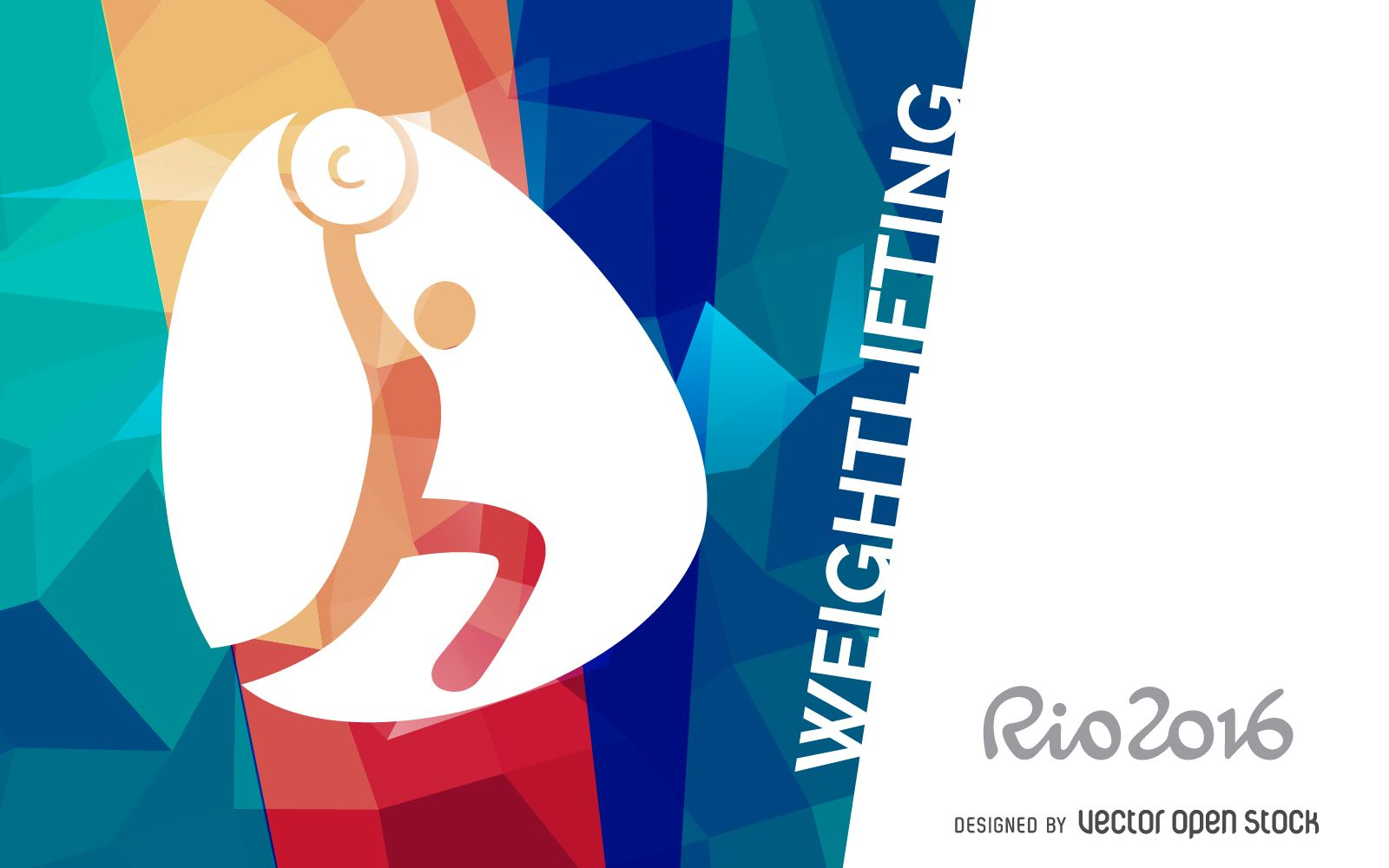 Olympic rings logo rio 2016 olympics logo designed by fred gelli - Bright Rio 2016 Design Featuring The Official Weightlifting Pictogram Design Includes Rio 2016 Logo At The Left Side And It Also Says Weightlifting In Big