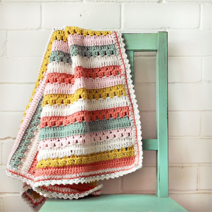 baby blanket | crochet stripes | pure wool | attic24 cosy stripe ...