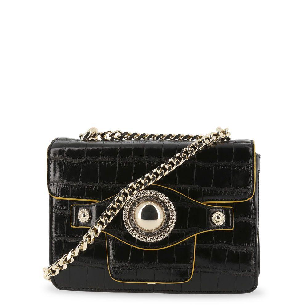 Original Versace Jeans Damen Taschen Designer Umhängetaschen Schwarz bag сумка