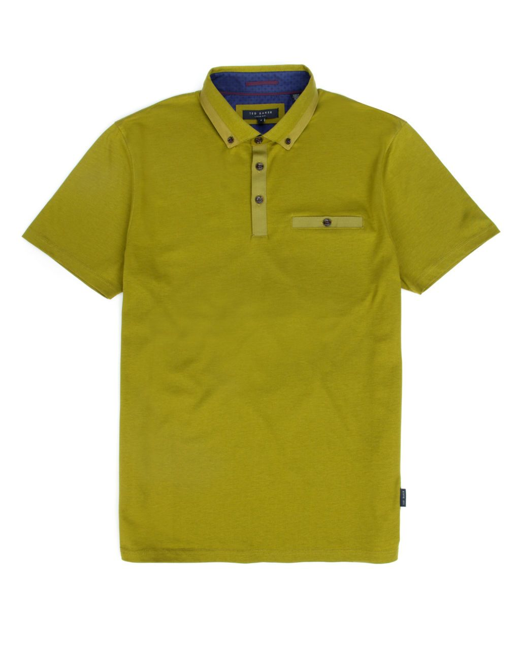 GRAINYO | Grosgrain cotton polo - Bright Green | Tops & T-shirts | Ted Baker