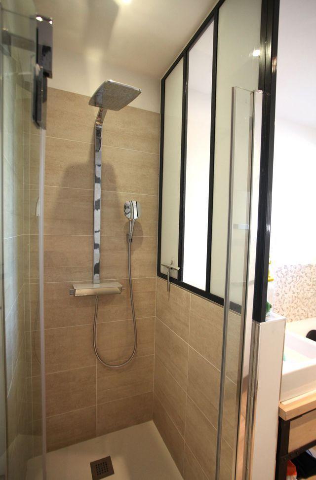 Petite salle de bains zen et moderne de 6m2 sdb for Amenagement sdb 6m2