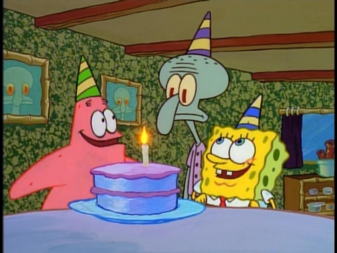 Happy Birthday Cake Spongebob Spongebob Spongebob Memes Birthday