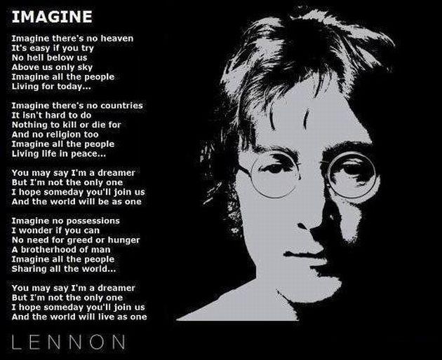 Imagine Lyrics Poster