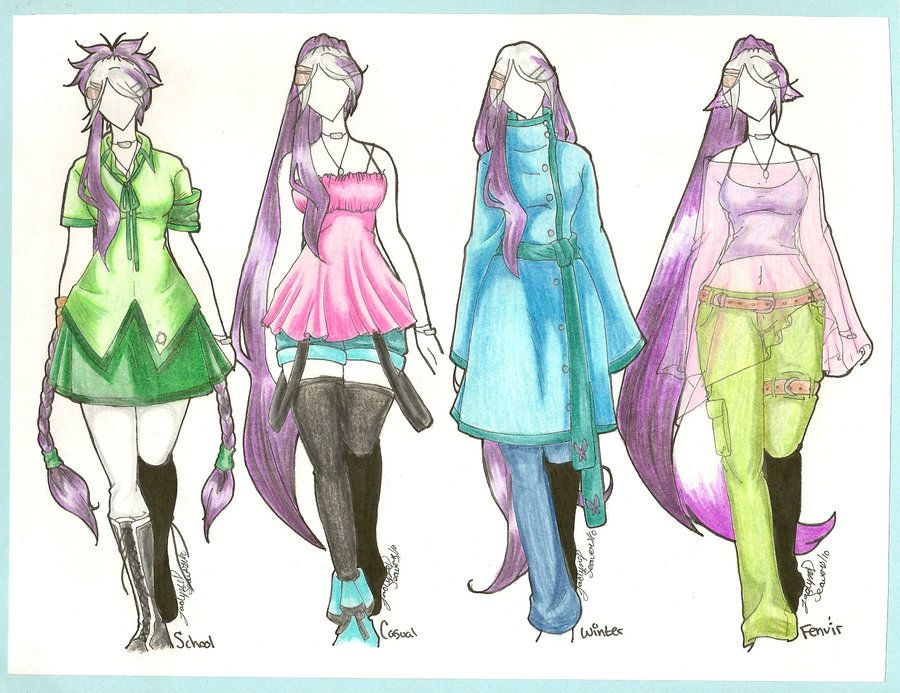 anime fashion clothes clothing designs for details