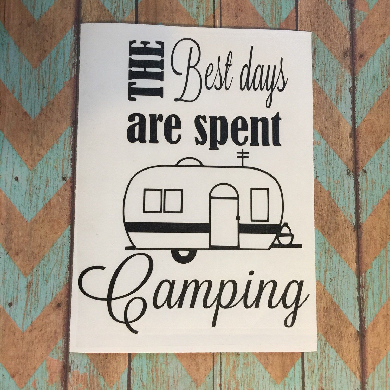 Camping Decal Happy Camper Decor Signs