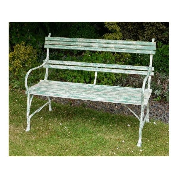 buy distressed outdoor bench shabby chic bench swanky interiors
