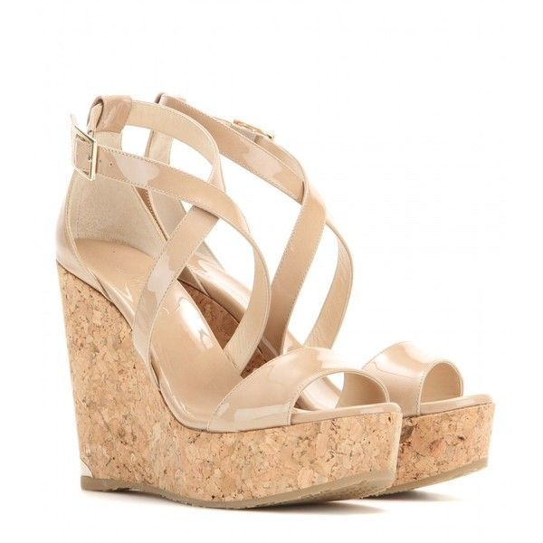 jimmy choo portia patent leather wedge sandals 390 liked on rh pinterest com