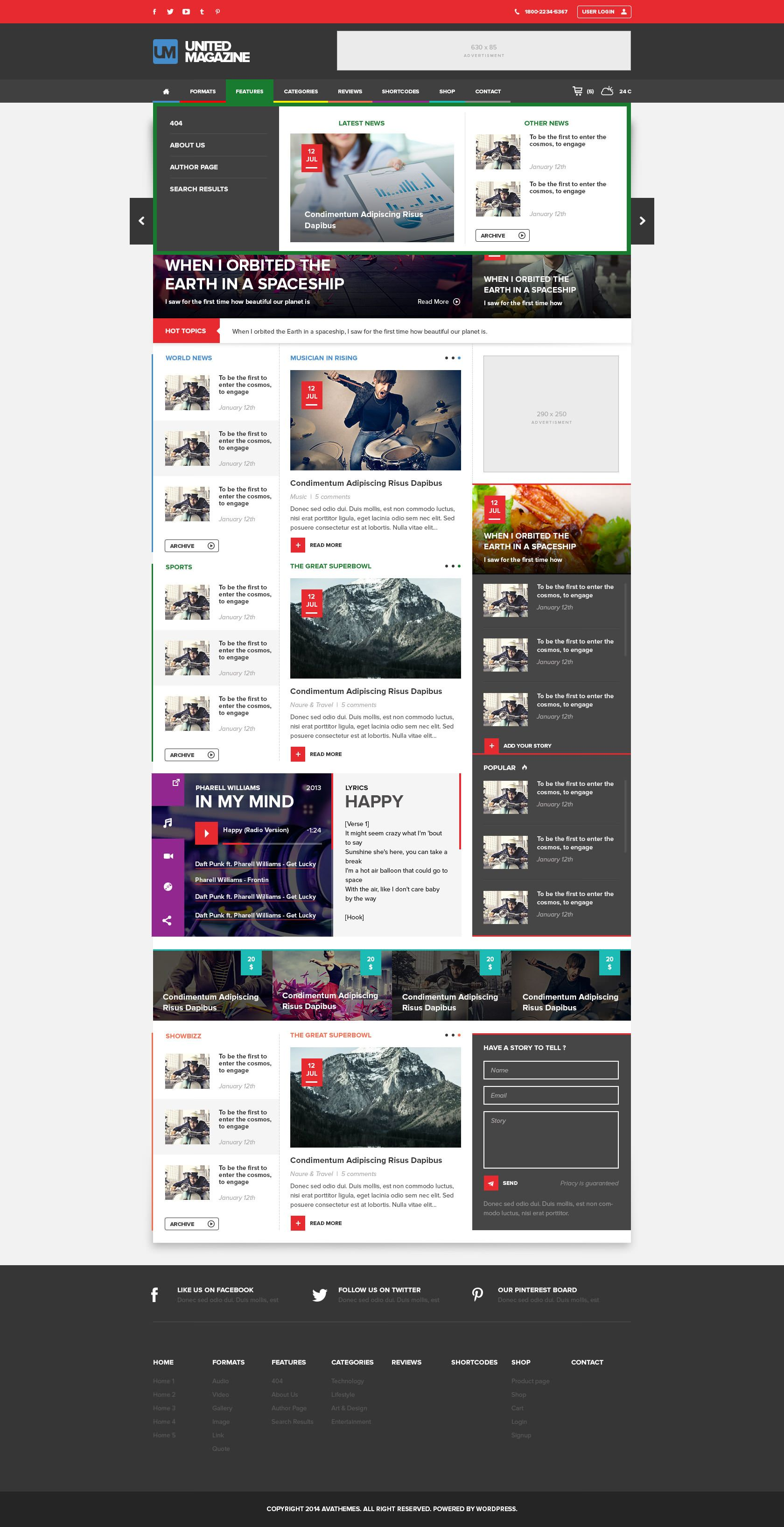 Wordpress Theme That Combines Both Form And Function Into One Comprehensive Website It Is Perfect For All K Blog Themes Magazine Theme Wordpress Magazine Blog