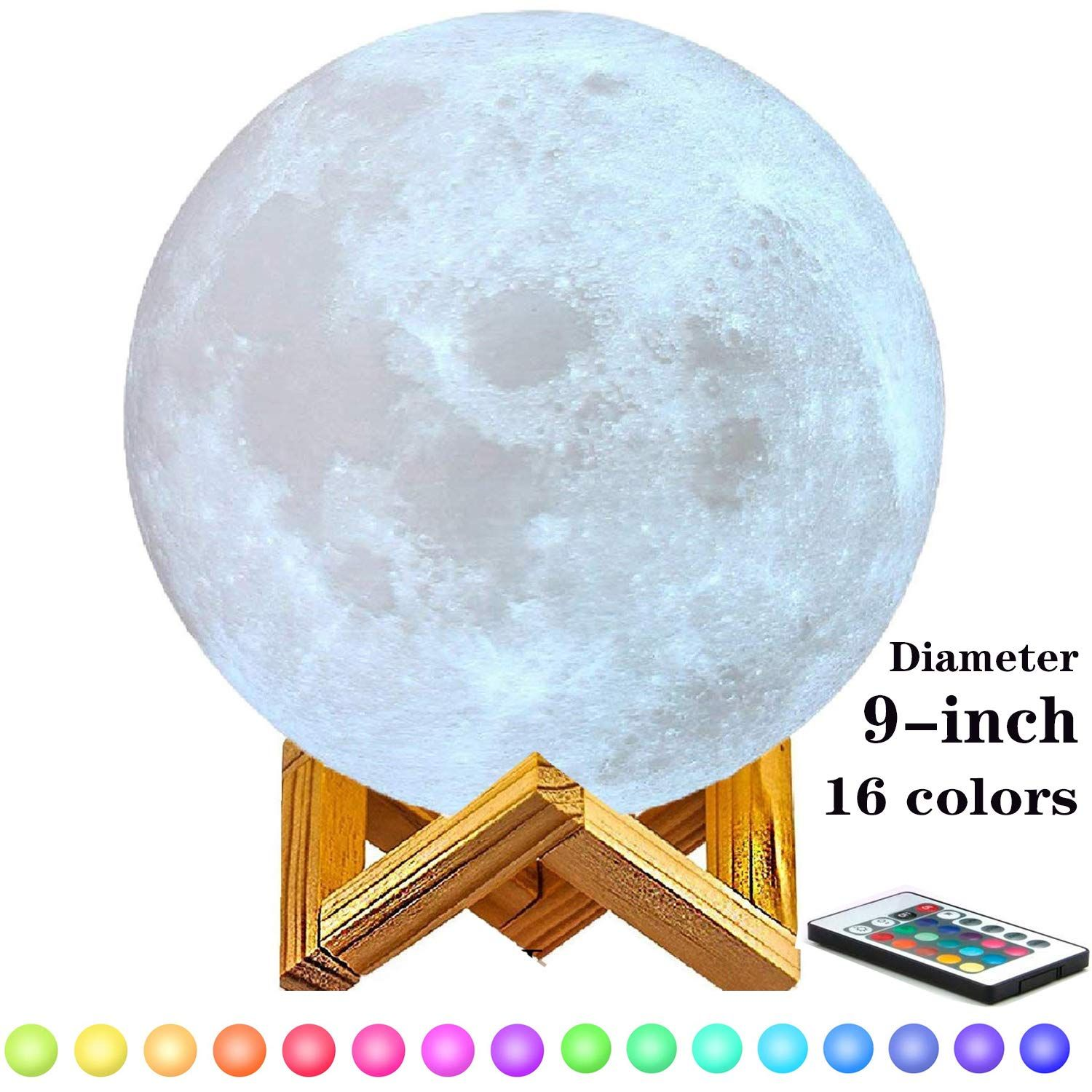 Moon Light Lamps 6 11 3d Printing Moon Lamp With Stand Touch Control And Remote Control With Led 16 Colors Moon Light Lamp Remote Control Touch Control