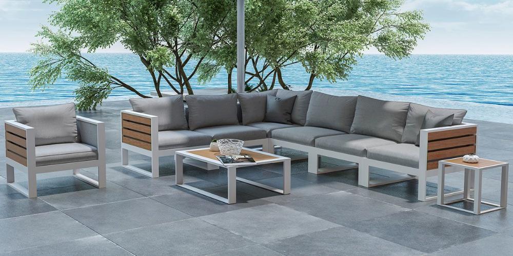 Fidji Grande Outdoor Sectional Sofa White Outdoor Sectional Sofa Sectional Outdoor Sofa