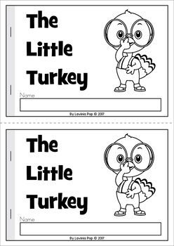 The Little Turkey emergent reader with comprehension page