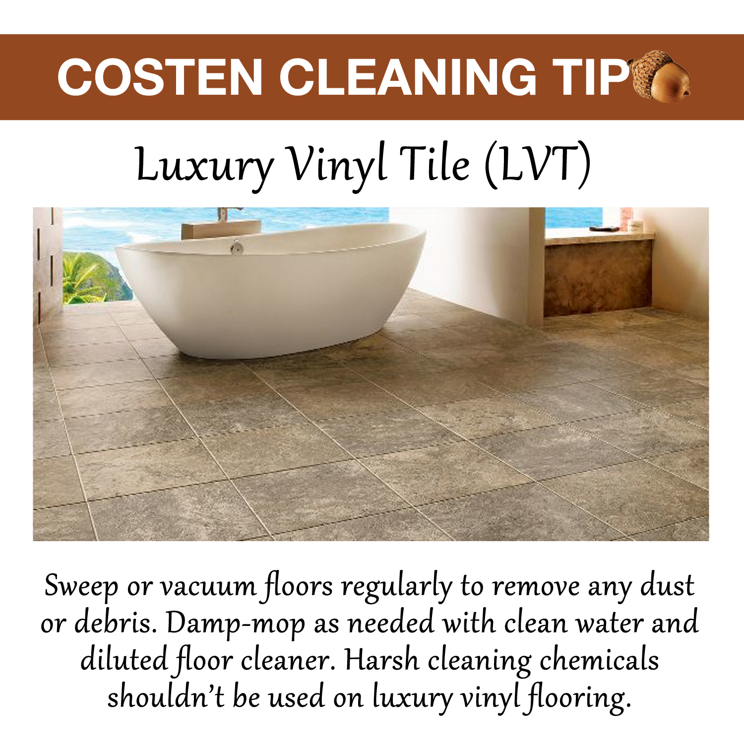 Costen Cleaning Tip Lvt Sweep Or Vacuum Floors Regularly
