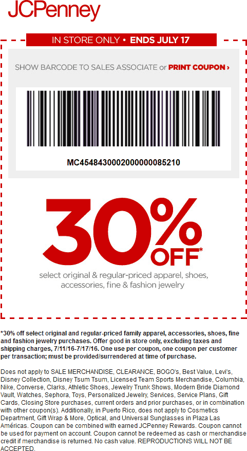 30 Off Apparel Shoes At Jcpenney Jcpenney Coupons Shopping Coupons Print Coupons