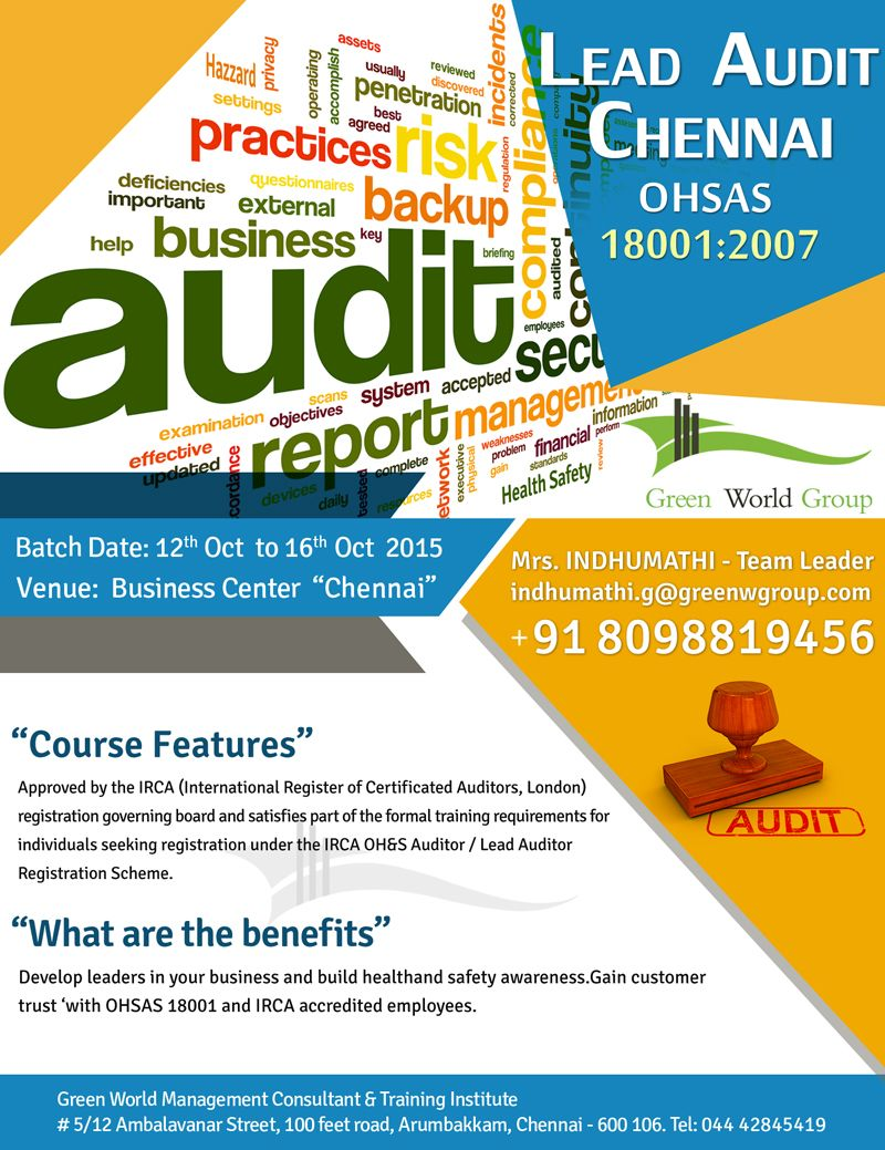 Green World Group Providing The Best Irca Approved Lead Auditor
