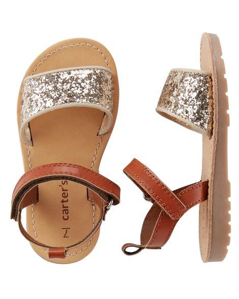 bc08b0a81a8174 Baby Girl Carter s Glitter Sandals from Carters.com. Shop clothing    accessories from a trusted name in kids