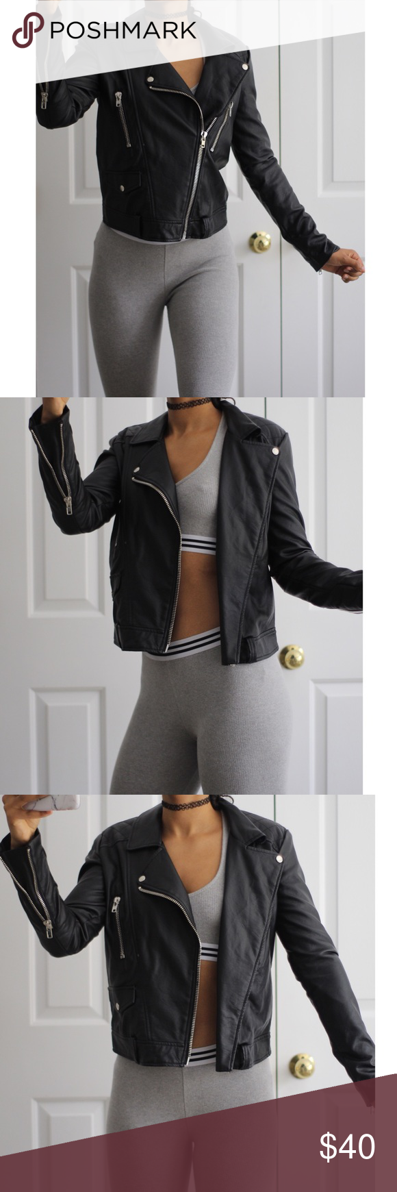 Forever 21 Faux Leather Jacket Leather jacket brands