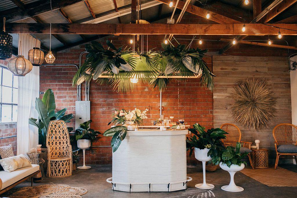 Chic Tiki Cocktail Party Tropical Home Decor Modern Home Bar Tropical Decor