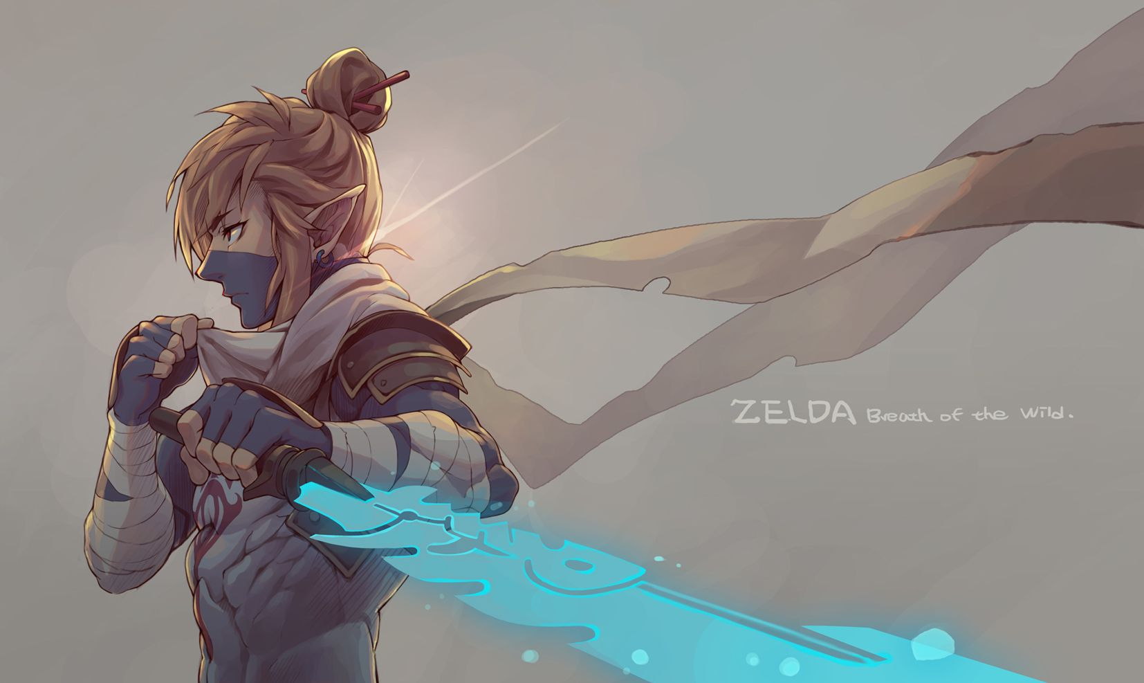 Breath Of The Wild Sheikah Link Anime Wallpaper Legend Of Zelda Breath Of The Wild