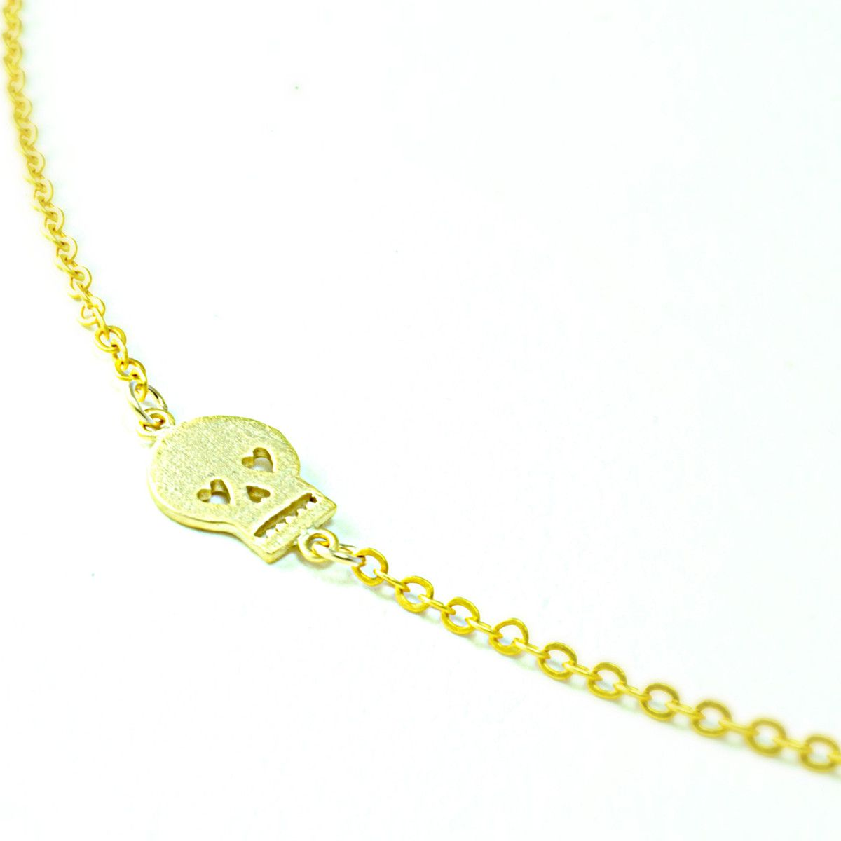Sideways Skull Necklace