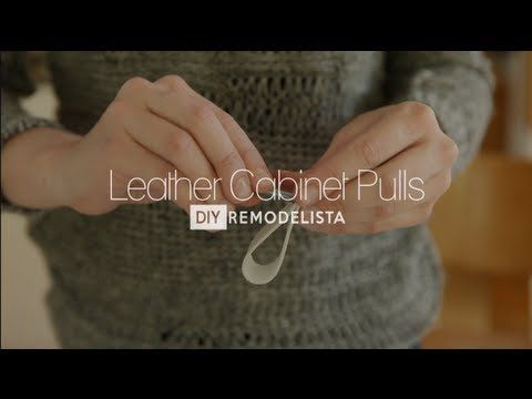 New Video from Remodelista: DIY Leather Cabinet Pulls