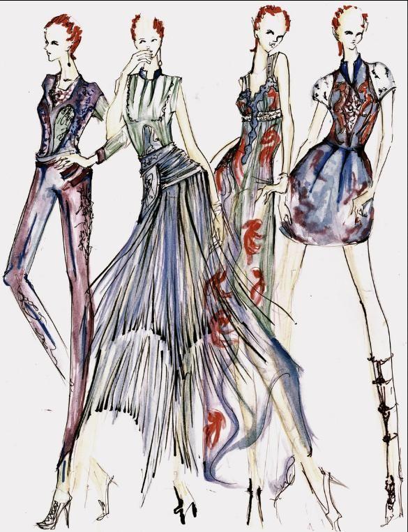 Project Runway Fashion Design Sketch Portfolio Mannequins