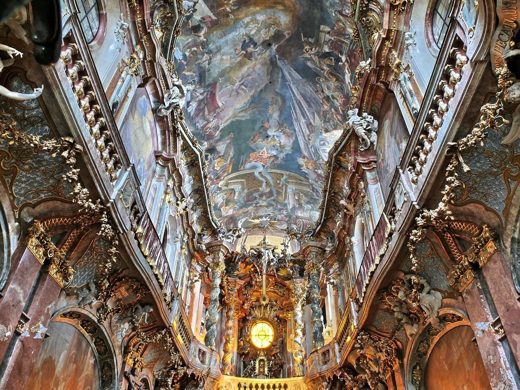 65 best ceiling design images on pinterest architecture baroque asamkirche munichgermanymunichs catholic church of st johann nepomuk better known as the asam dailygadgetfo Gallery