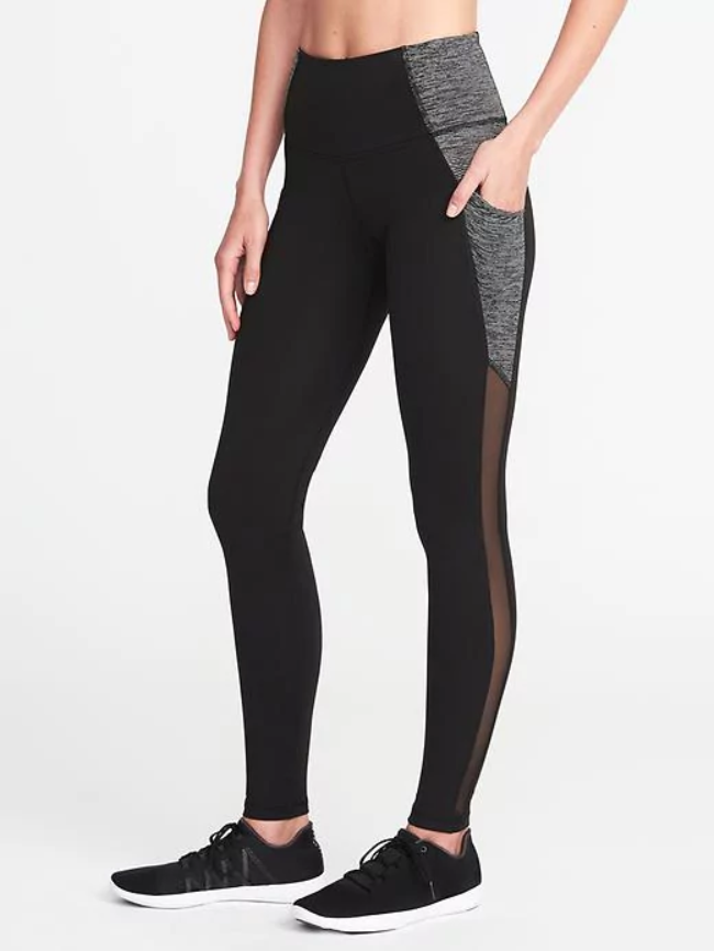 407cb5783c High-Waist Workout Leggings for Every Shape—and They ll Never Fall Down -  Old Navy