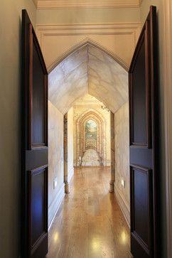 Trompe l'oeil hallway...