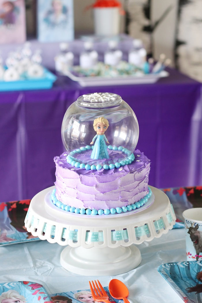 Kara S Party Ideas Frozen 2 Birthday Party With Diy Backdrop