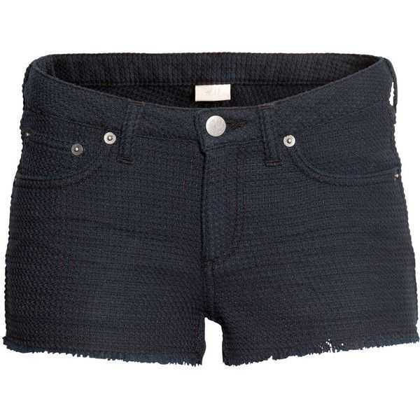 H&M Short shorts (2,175 INR) ❤ liked on Polyvore featuring shorts, bottoms, short, black, mini short shorts, h&m shorts, short hot pants, hot stretch pants and hot cotton pants