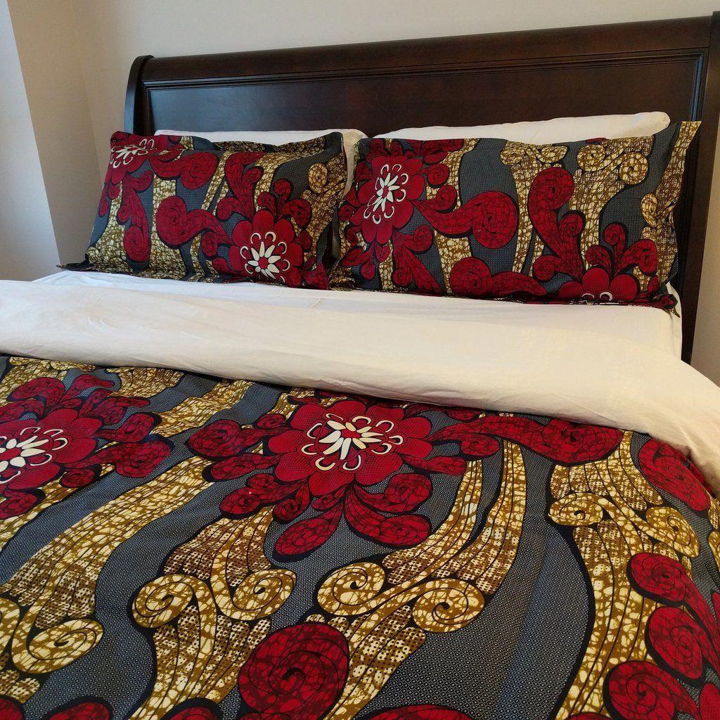 Shop For African Print Ankara Double Sided Duvet Cover Set Set Includes A Duvet Cove Decoration Interieure Africaine Draps De Lit Ensemble Housse De Couette
