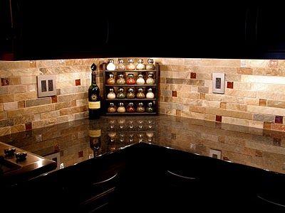 Travertine Tile Backsplash on And Design Home Decor Kitchens