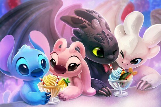 Double Date Poster By Tsaoshin In 2021 Disney Drawings Cute Disney Wallpaper Disney Art
