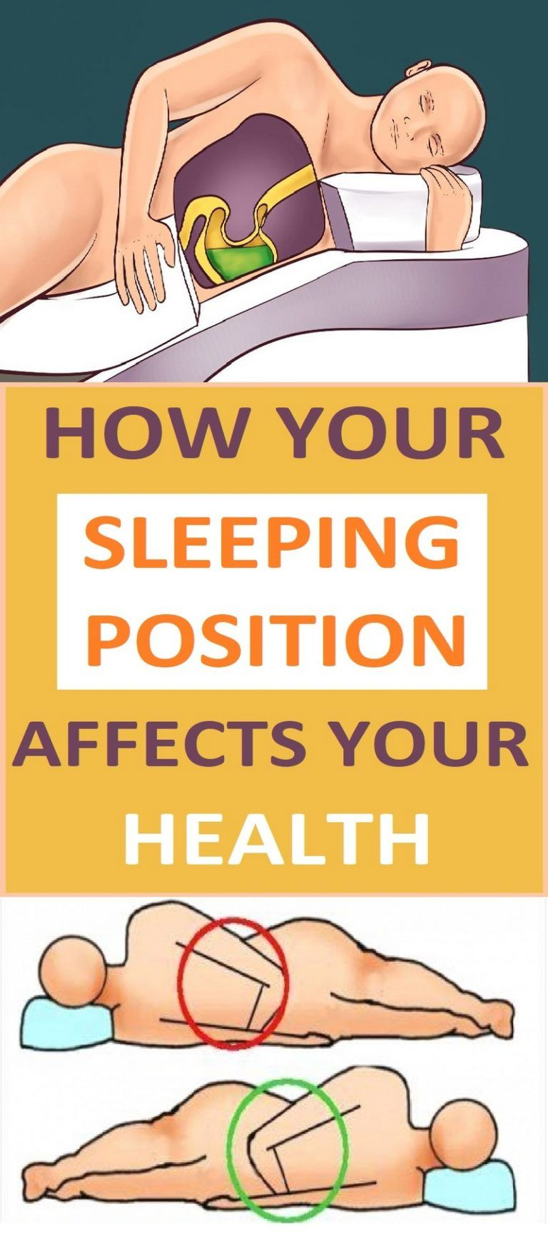 How different sleep positions affect your wellbeing