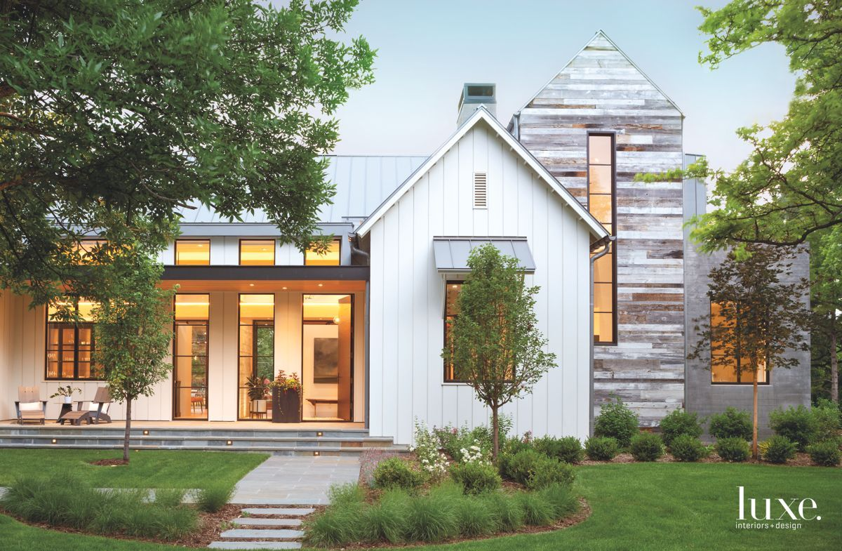 Exterior modern siding window design  by combining rural and modern influences a structure near denver