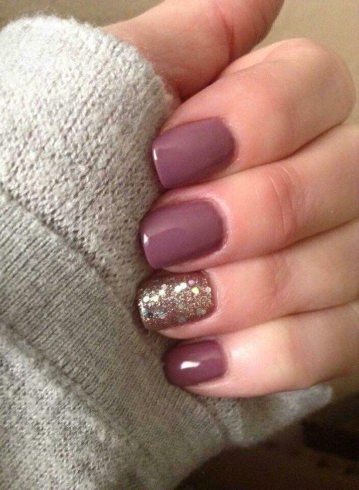 Trending Nail Colors Fall Winter 36 Mauve Nails Nail Colors Trendy Nails