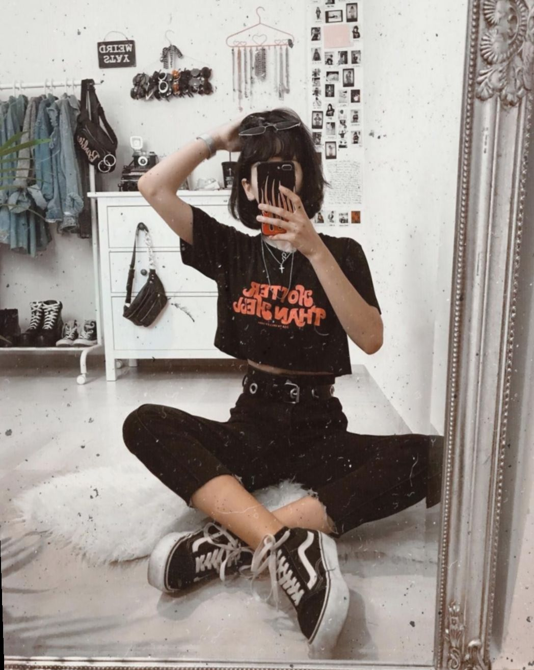 Egirl Tumblr Grunge Fashion Grungefashion Emofashion In 2020 Aesthetic Clothes Edgy Outfits Retro Outfits