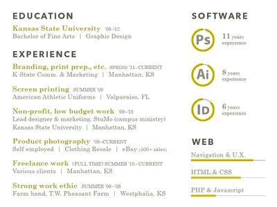 Dribbble - Resume Typography by Jason Wright #Resume self promo - how to wright resume