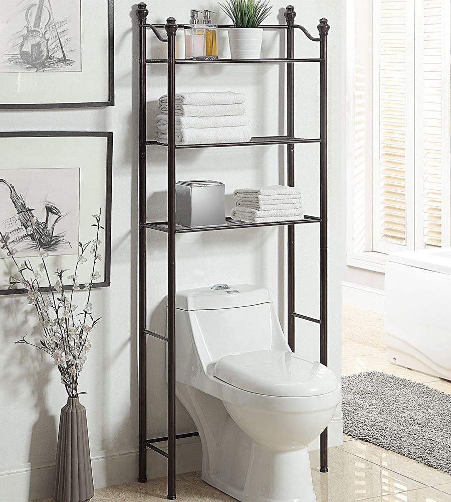30 Space Saving Over The Toilet Storage Ideas With Images