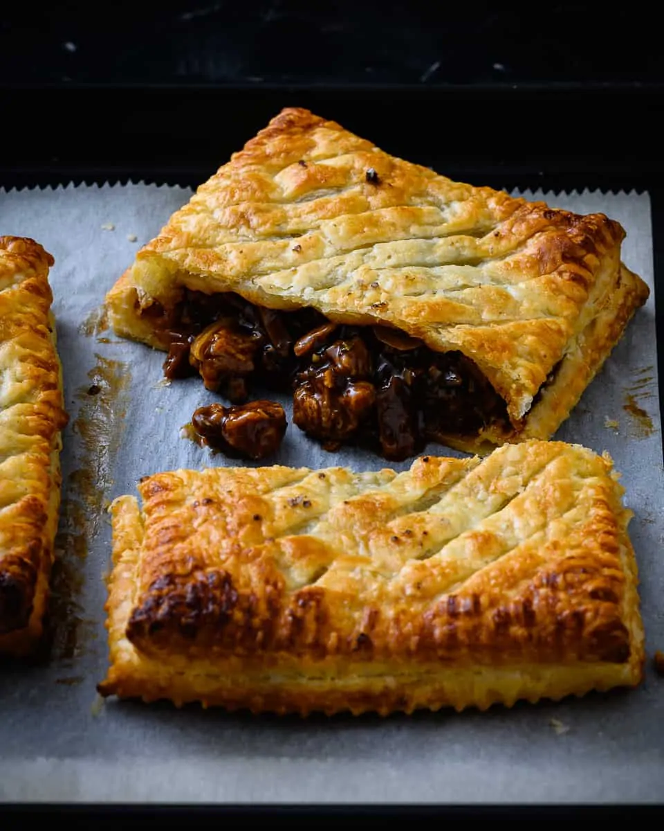 Vegan Steak Bakes With Real Ale And Puff Pastry School Night Vegan Baked Steak Vegan Steak Steak And Ale