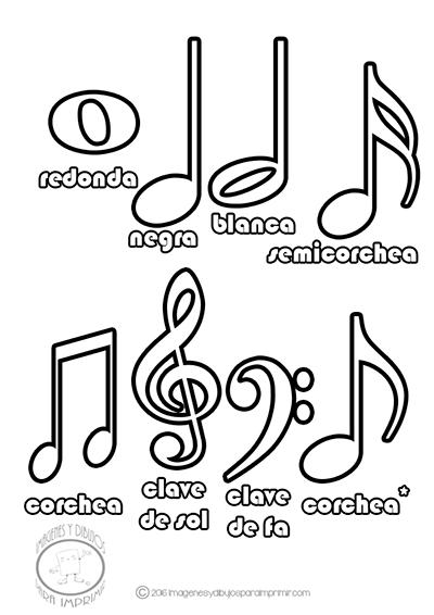 Resultado De Imagen Para Notas Musicales Y Sus Nombres Music Notes Drawing Music Printables Music Notes Tattoo