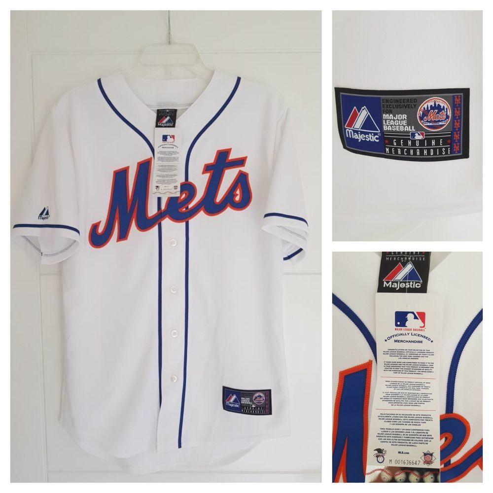 sports shoes c820b 0853b MAJESTIC NEW YORK METS MLB Official Baseball Jersey Shirt ...