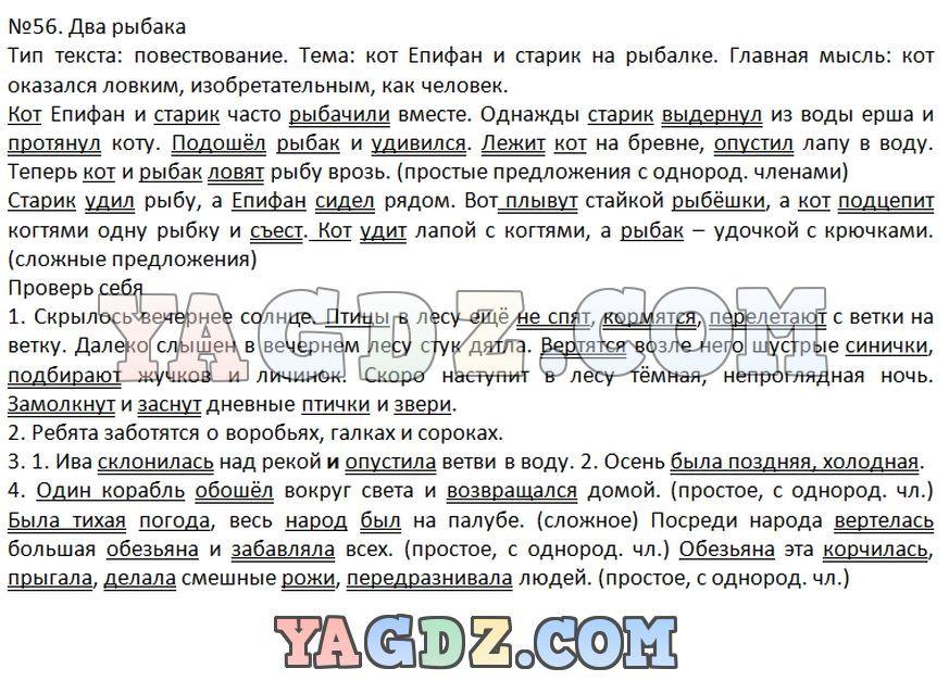 Русский язык 4 класс репкина таблица