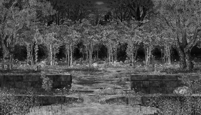 IC-98: Näkymä vastarannalta, osa videosta (70min) http://www.av-arkki.fi/teokset/nakyma-vastarannalta/ Pinella slow animated video about changes, winning nature of nature.